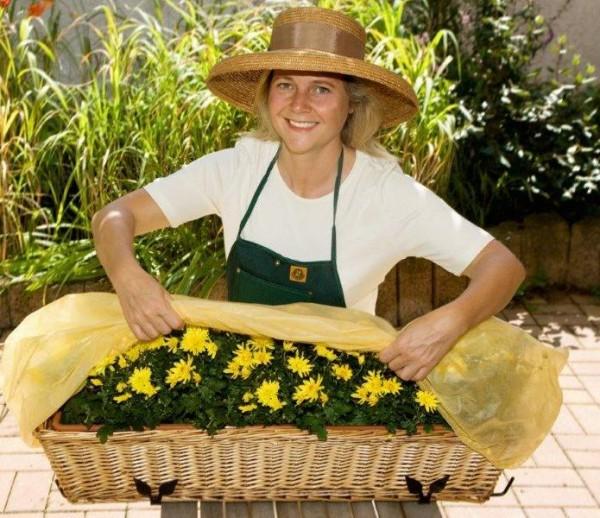 Bio Blumenkastenhauben (2 Stück)